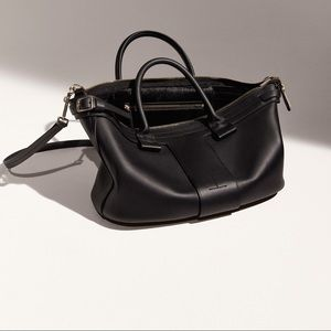 THEORY The T-Bar leather bag